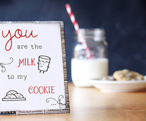 milk, cookie, and text image