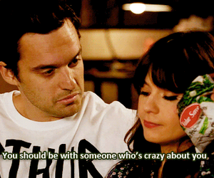 quote and new girl image