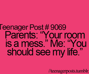 life, mess, and parents image