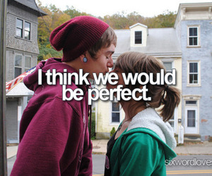 six word love story, perfect, and love image