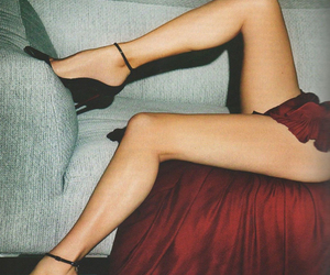 legs, red, and red dress image