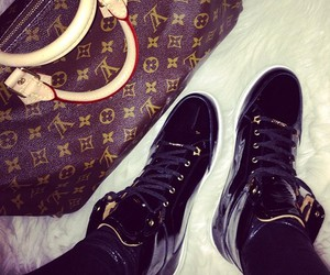 Louis Vuitton, bag, and shoes image