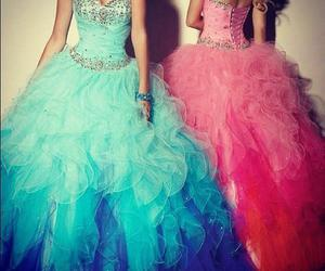 dress, pink, and blue image