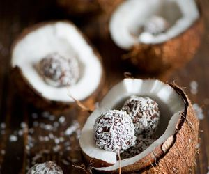 brown, coco, and coconut image