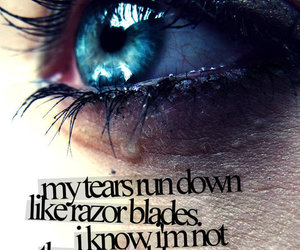quote, eye, and tears image