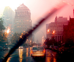 car, city, and rain image