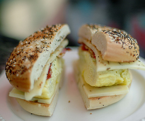 bagel, delicious, and sandwich image