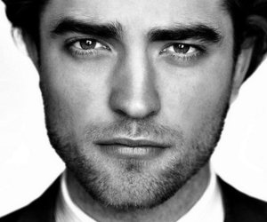 robert pattinson, sexy, and black and white image