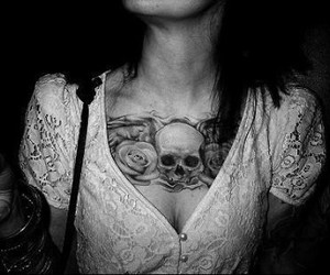 girl, sexy, and skull image