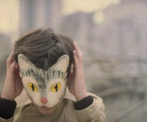boy, mask, and cat image