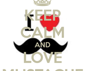 moustache, keep calm, and mustache image
