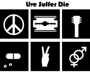 guitar, peace, and rock image