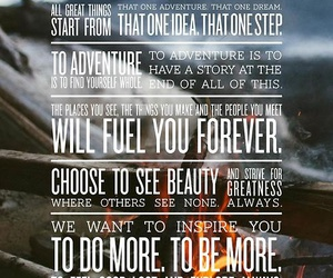 inspire, quote, and adventure image