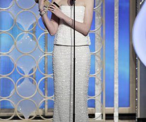 Anne Hathaway, golden globes, and golden globe image