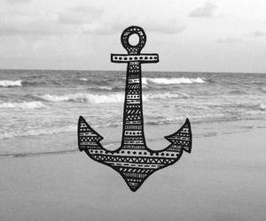 anchor, sea, and beach image