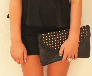 black, spikes, and fashion image