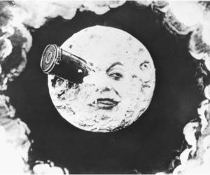 1902, moon, and black and white image