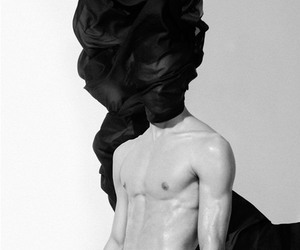 abs, b&w, and fashion image