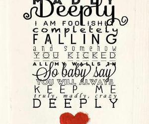 one direction, truly madly deeply, and Lyrics image