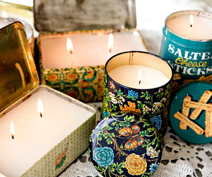 candle, vintage, and floral image
