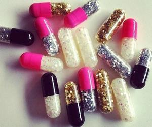 glitter, pills, and pink image