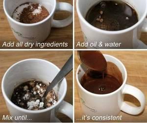 brownie, mug, and chocolate image