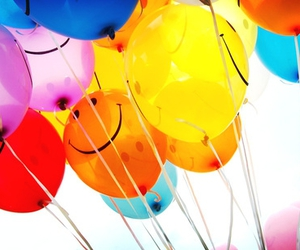baloons, smile, and carnival image