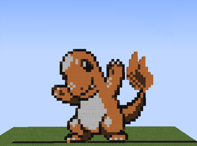 Charmander Pixel Art On We Heart It