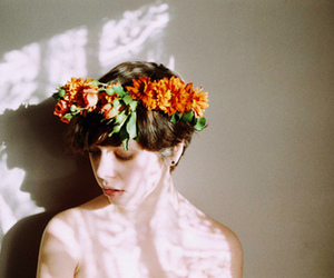 flowers, naked, and shadow image