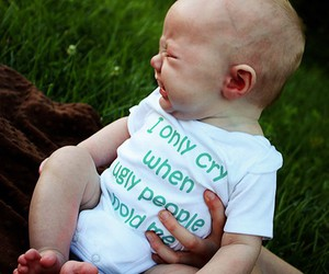 baby, funny, and cry image