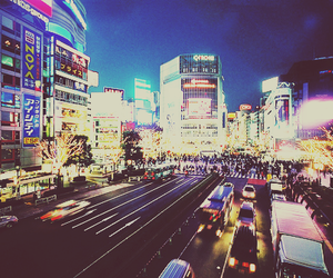 city, light, and japan image