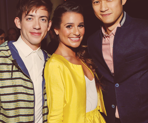 lea michele, kevin mchale, and glee image