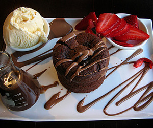 chocolate, food, and strawberry image