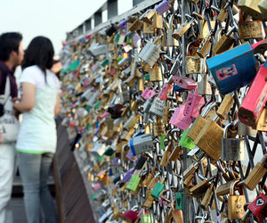 lock, love, and couple image