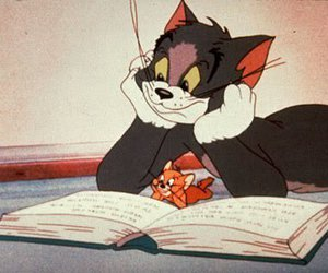 tom and jerry, cartoon, and Tom image