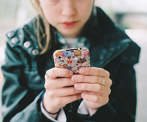 girl, iphone, and photography image