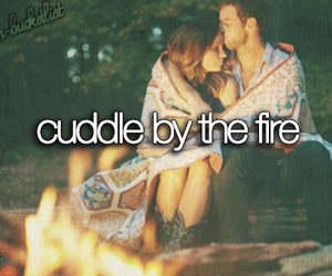 fire, cuddle, and love image