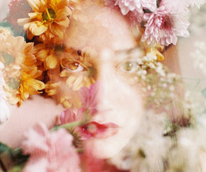 colors, face, and flowers image