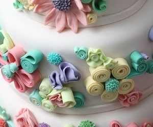 cakes, lace, and colorful image