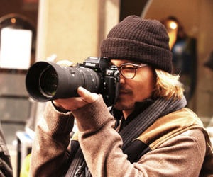johnny depp, camera, and nikon image