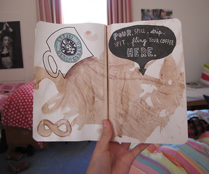 wreck this journal, art, and coffee image