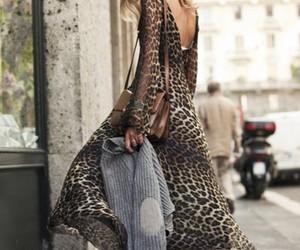 fashion, dress, and leopard image
