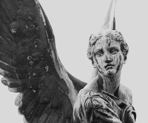 angel, statue, and art image