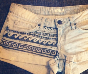 shorts, pattern, and summer image