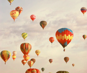 sky, balloons, and colors image