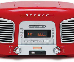 radio, retro, and red image