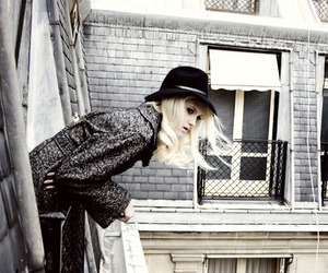 hat, blonde, and fashion image