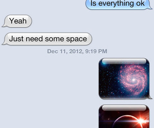 space, funny, and text image