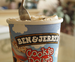ice cream, cookie dough, and food image