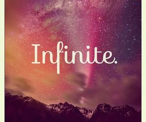 infinite, galaxy, and infinity image